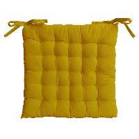 Coussin De Chaise - Galette Galette de chaise 25 points 40x40x4cm moutarde