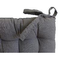 Coussin De Chaise - Galette Galette de chaise 40x40x4 cm Gris antrhracite
