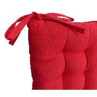 Coussin De Chaise - Galette Galette de chaise 40x40x4 cm Rouge