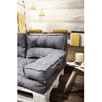 Coussin De Chaise - Galette TODAY Accoudoir - 100% Coton - Gris - 58x10x20 cm SPIRIT GARDEN