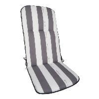 Coussin De Chaise - Galette coussin pour fauteuil multipositions CANCALE Gris 117x46x5.5cm