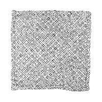 Coussin De Sol - Matelas De Sol Coussin de sol 100 coton imprime CLOVER - 60x60x10 cm - Noir et banc