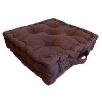 Coussin De Sol - Matelas De Sol Coussin de sol 40x40x9 cm marron Chocolat