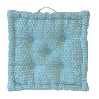 Coussin De Sol - Matelas De Sol Coussin de sol Coton Imprime Scandi 40x40x9 cm vert d'eau et blanc