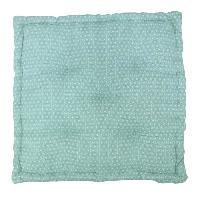 Coussin De Sol - Matelas De Sol Coussin de sol coton imprime SCANDI - 60x60x10 cm - Vert d'eau et blanc