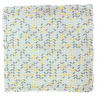 Coussin De Sol - Matelas De Sol Coussin de sol imprime 100 coton MISTIGRI - 60x60x10 cm - Gris. jaune et blanc