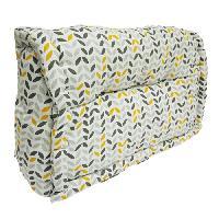 Coussin De Sol - Matelas De Sol Dossier cale-reins 100 coton MISTIGRI 60xH35x22 11 cm gris et jaune