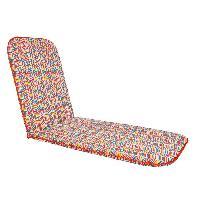 Coussin D'exterieur - Coussin De Bain De Soleil - Coussin De Chaise De Jardin Bain de soleil Sol - 190x60 cm - Rouge et multicolore
