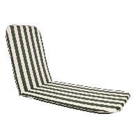 Coussin D'exterieur - Coussin De Bain De Soleil - Coussin De Chaise De Jardin Bain de soleil Sol - 190x60 cm - Vert et blanc