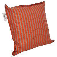 Coussin D'exterieur - Coussin De Bain De Soleil - Coussin De Chaise De Jardin Coussin a volant plat Sol - 40x40 cm - Orange et gris