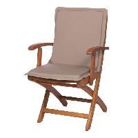 Coussin D'exterieur - Coussin De Bain De Soleil - Coussin De Chaise De Jardin Galette de chaise maxi GREEN - 87x44 cm - Beige