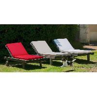 Coussin D'exterieur - Coussin De Bain De Soleil - Coussin De Chaise De Jardin JARDIN PRIVE Coussin bain de soleil MONTE CARLO - 185 x 55 x 6 cm - Rouge Carmin