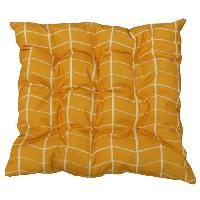Coussin D'exterieur - Coussin De Bain De Soleil - Coussin De Chaise De Jardin JARDIN PRIVE Galette de chaise 9 points OSLO - 40 x 40 x 5 cm - Jaune Safran
