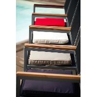 Coussin D'exterieur - Coussin De Bain De Soleil - Coussin De Chaise De Jardin JARDIN PRIVE Galette de chaise Monte Carlo - 39 x 39 x 5 cm - Gris ardoise