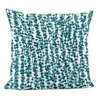 Coussin Et Housse ANDORA Coussin dehoussable Sylvia - 45x45 cm - Bleu vert