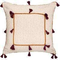 Coussin Et Housse Coussin Coton a pompons Nam - 50 x 50 cm