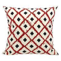 Coussin Et Housse Coussin deco 100 coton imprime BOHO 45x45cm - Rouge Cotton Wood