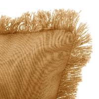 Coussin Et Housse Coussin déhoussable avec contour frange - 30 x 50 cm - Ocre