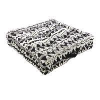 Coussin Et Housse Coussin de sol 100 coton imprime DJERBA 40x40cm - Noir Cotton Wood