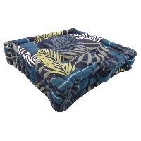 Coussin Et Housse Coussin de sol 100 coton imprime JUNGLE 40x40cm - Bleu Cotton Wood