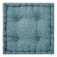Coussin Et Housse Coussin de sol en coton - 40 x 40 x 8 cm - Bleu canard