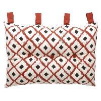 Coussin Et Housse Coussin tete de lit 100 coton imprime BOHO 50x70cm - Rouge Cotton Wood