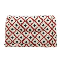 Coussin Et Housse Dossier cale-reins 100 coton imprime BOHO 60xH35x22-11cm - Rouge Cotton Wood