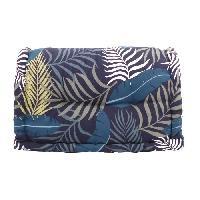 Coussin Et Housse Dossier cale-reins 100 coton imprime JUNGLE 60xH35x22-11cm - Bleu Cotton Wood
