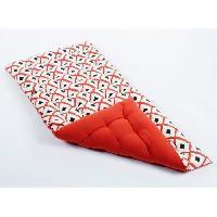 Coussin Et Housse Matelas de sol souple 100 coton imprime BOHO 120x60x5cm - Rouge Cotton Wood
