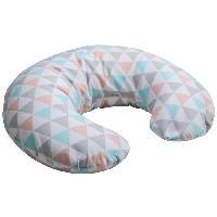 Coussin Grossesse - Allaitement BABYCALIN Mini-coussin de maternité Coton - Géométrique et pop arts - 33 x 66 cm