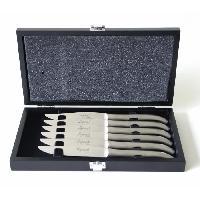 Couteau De Cuisine - Feuille - Couperet - Fendoir Coffret de 6 Couteaux LAGUIOLE forgés