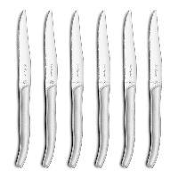 Couteau De Table Coffret de 6 couteaux steaks Gamme Sky - Blanc