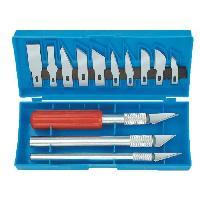Couteaux De Bricolage MANNESMANN Jeu de 16 pieces de rechange de mesure couteaux de modelisme