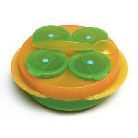 Couverts Bebe BABYSNACK -4 petits pots + 1 cuillere- - orangevert