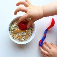 Couverts Bebe NUBY Cuillere et fourchette d'apprentissage - 12 mois +