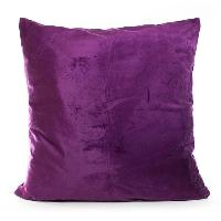 Couverture - Edredon - Plaid ANDORA Coussin Jessie - 60x60 cm - Prune - 100% polyester