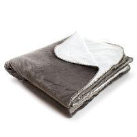 Couverture - Edredon - Plaid Plaid Jessie - 180x220 cm - Taupe- 100 polyester