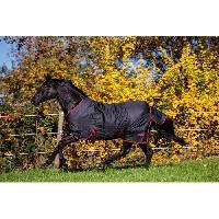 Couverture - Plaid COVALLIERO Couverture cheval outdoor RugBeZero.1 - 145 cm - Noir et rouge
