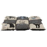 Couverture - Plaid TRIXIE Couverture Patchwork Cat 55 × 45 cm - Gris et bleu clair - Pour chat