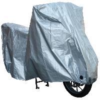 Couverture De Protection Vehicule - Bache Vehicule Housse de moto etanche - XXL Argent - ADNAuto