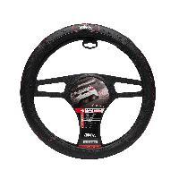 Couvre-volant Couvre Volant Noir surpiqure Rouge Grip Race Sport - ADNAuto