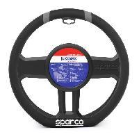 Couvre-volant SPARCO Couvre-volant - Pour volant de type meplat - Meplat et lisere gris