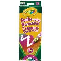 Crayon De Couleur - Craie Grasse 10 Crayons de couleur effacables