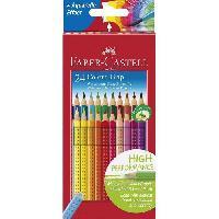 Crayon De Couleur - Craie Grasse 24 Crayons de couleur Colour Grip + Livre Pixel - Coloris assortis