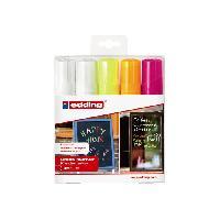 Crayon De Couleur - Craie Grasse 5 craies liquides - Taille XL - Fluos