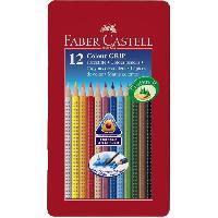 Crayon De Couleur - Craie Grasse Boite de 12 Crayons de couleur Colour Grip - Coloris assortis