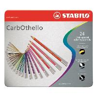 Crayon De Couleur - Craie Grasse Boite metal de 24 Crayons de couleur CarbOthello