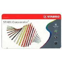 Crayon De Couleur - Craie Grasse Boite metal de 36 crayons de couleur aquarellables Aquacolor