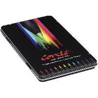 Crayon De Couleur - Craie Grasse Conté Crayons de Couleur - Couleurs Assorties. Boîte Métallique de 12 - Betadine