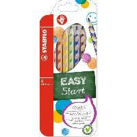 Crayon De Couleur - Craie Grasse EASYcolors droitier - Etui carton de 6 crayons de couleur